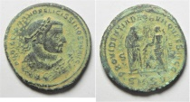 Ancient Coins - Diocletian (AD 284-305). AE follis (28mm, 10.10g). Serdica mint. Struck AD 305-306.