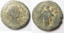 Ancient Coins -  Egypt. Alexandria under Faustina II (AD 147-175). AE drachm (33mm, 17.97g). Struck in regnal year 14 of Antoninus Pius (AD 150/1).
