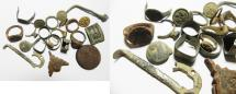 Ancient Coins - ANCIENT JORDAN LOT OF ANCIENT AND MODERN RELICS.  MOSTLY BRONZE. 300 - 1900s A.D