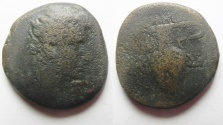 Ancient Coins - Egypt. Alexandria. Augustus (27 BC-AD 14). AE 80 Drachmae. Vase of Ritual. Extremly rare!
