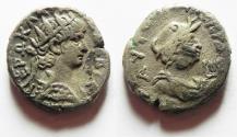 Ancient Coins - EGYPT. ALEXANDRIA. NERO BILLON TETRADRACHM WITH ALEXANDRIA