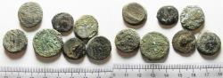 Ancient Coins - LOT OF 7 ANCIENT BRONZE GREEK COINS