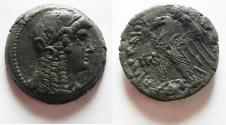 Ancient Coins - PTOLEMAIC EMPIRE. PTOLEMY VI 180-145 BC. AE26 . WITH ISIS