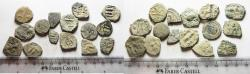 Ancient Coins - MIXED ANCIENT LOT OF 15 AE COINS. ARAB-BYZANTINE, BYZANTINE AND OTHERS