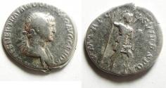 Ancient Coins - TRAJAN SILVER DENARIUS , NICE & WELL PRICED