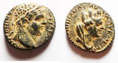 Ancient Coins - MESOPOTAMIA, Carrhae. Caracalla. AD 198-217. Æ 15