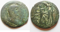 Ancient Coins - Egypt. Alexandria under Hadrian (AD 117-138). AE drachm (35mm, 20.26g). Struck in regnal year 18 (AD 133/4). VERY RARE VARIETY!