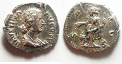 Ancient Coins - CHOICE FAUSTINA JUNIOR SILVER DENARIUS
