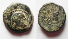 Ancient Coins - RARE. NABATAEAN KINGDOM. MALICHUS I . 34 B.C AE 17