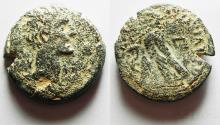 Ancient Coins - The first coinage of the new province of Egypt: EGYPT, Alexandria. Augustus. 27 BC-AD 14. Æ Diobol – 80 Drachmai