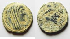 Ancient Coins - BEAUTIFUL AS FOUND CONSTANTINE I AE 4 . POSTHUMOUS ISSUE
