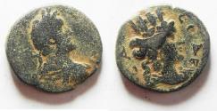 Ancient Coins - JUDAEA. AELIA CAPITOLINA. ANTONINUS PIUS . AE 23