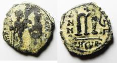 Ancient Coins - ORIGINAL DESERT PATINA: PHOCAS BYZANTINE AE FOLLIS