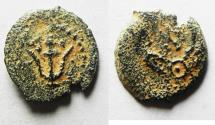 Ancient Coins - Judaea, The Herodians. Herod Archelaus, 4 BC-6 AD. AE Prutah