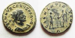Ancient Coins - CARUS AE ANTONINIANUS. DESERT PATINA