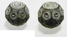 Ancient Coins - BYZANTINE / EARLY ISLAMIC BRONZE WEIGHT. 600 - 800 A.D.  28.49GM = 1 UNCIA OR 10 DIRHAMS