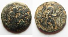 Ancient Coins - Egypt, Ptolemy VIII 145-116 BC, AE25. Kyrene Mint