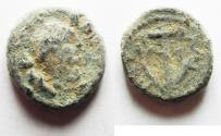 Ancient Coins - JUDAEA. GALILEE . TIBERIAS . TRAJAN AE 15. AS FOUND