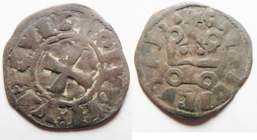 World Coins - MEDIEVAL. Kingdom of France. Philip IV (1285-1314). Billon denier tournois (19mm, 1.12g). Struck c. 1245-1278?