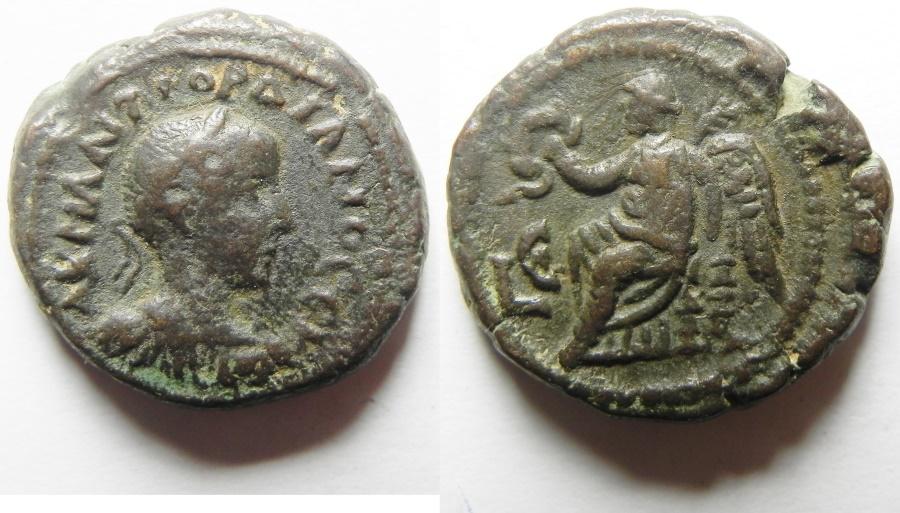 Ancient Coins - Egypt. Alexandria under Gordian III (AD 238-244). Billon tetradrachm . Beautiful
