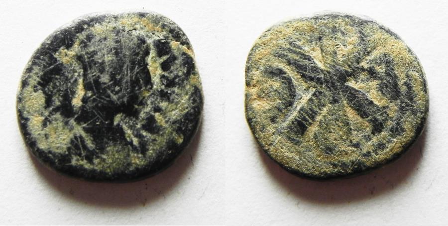 Ancient Coins - BYZANTINE. Justin I. AE pentanummium. 512-518 AD