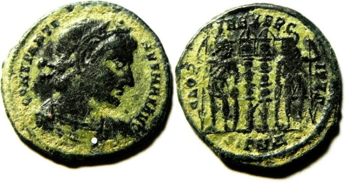 Ancient Coins - NICE CONSTANTINE I AE 3