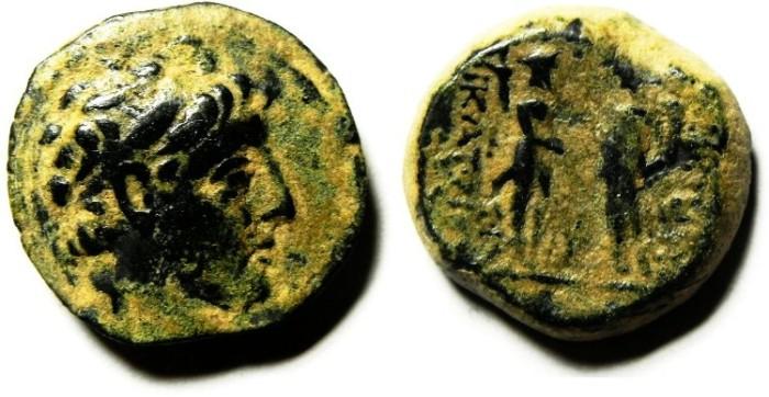 Ancient Coins - SELEUKID KINGDOM , DEMETRIOS II? ,  AE 20, AS FOUND, NICE QUALITY!! RARE!!