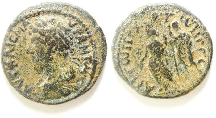Ancient Coins - DECAPOLIS , GERASA , MARCUS AURELIUS AE 25