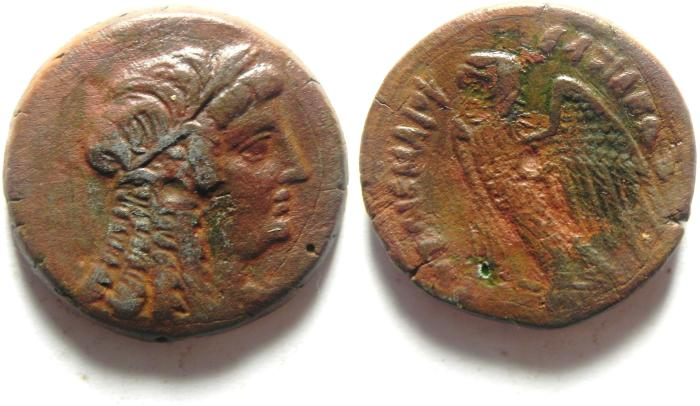 Ancient Coins - VERY NICE PTOLEMY COIN AE 27 , what a portriat ??????!!!!!!!