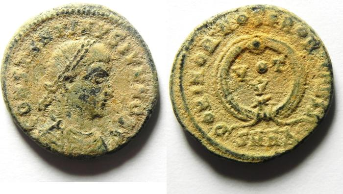 Ancient Coins - CONSTANTINE II AE 3 , AS FOUND , HIGH QUALITY , GUARANTEED EF!