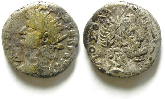 Ancient Coins -  ALEXANDRIA , EGYPT , NERO , BILLON TETRADRACHM , SCARCE