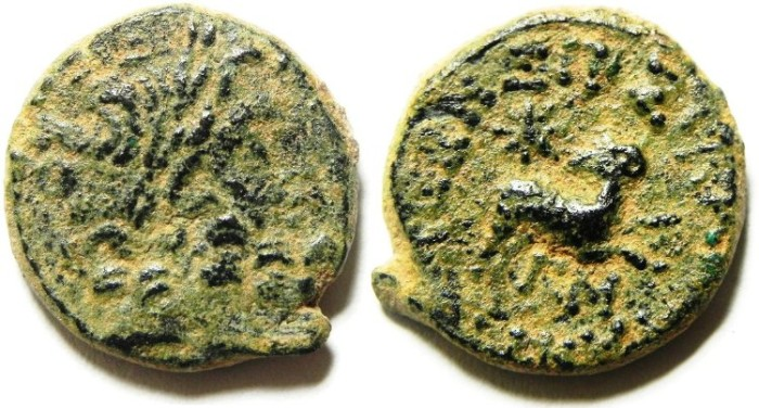 "Ancient Coins - Syria, Antiochia ad Orontem , "" Star of Bethlehem "" AE 20 , 12/13 A.D - AS FOUND"