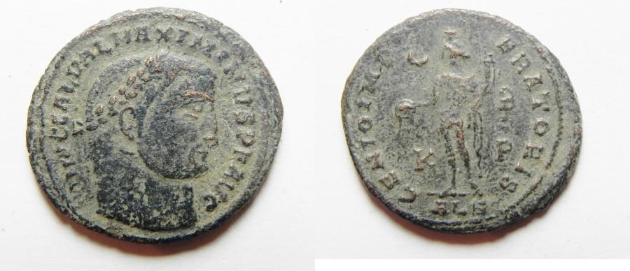 Ancient Coins - GALERIUS AE FOLLIS. ALEXANDRIA
