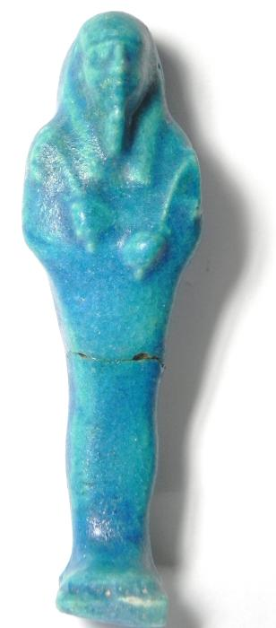 Ancient Coins - ANCIENT EGYPT , PTOLEMAIC PERIOD , 3RD CENT. B.C , BEAUTIFULL SHARP COLOUR USHABTI