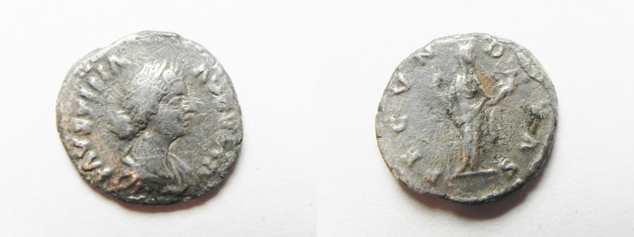 Ancient Coins - FAUSTINA II SILVER DENARIUS
