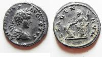 Ancient Coins - CHOICE CARACALLA SILVER DENARIUS AS FOUND