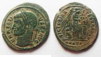 Ancient Coins -  Maxentius 306-312, Follis. OSTIA MINT