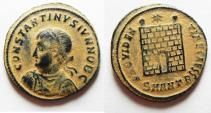 Ancient Coins - ORIGINAL DESERT PATINA: CONSTANTINE II AE 3. CAMP GATE