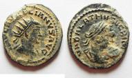 Ancient Coins - ORIGINAL DESERT PATINA: aurelian & vabalathus AE ANTONINIANUS