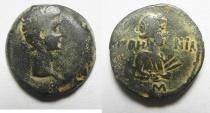 Ancient Coins -  EGYPT - ALEXANDRIA , AUGUSTUS AE DIOBOL , NICE & RARE