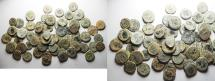 Ancient Coins - ROMAN. LOT OF 67 AE 4 COINS. AS FOUND