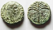 Ancient Coins - Samaria. Neapolis under Domitian (AD 81-96). AE 18mm, 6.08g. Struck in civic year 11  (AD 82/3).