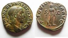 Ancient Coins - HIGH QUALITY: SEVERUS ALEXANDER. (AD 222-235) AE Sestertius