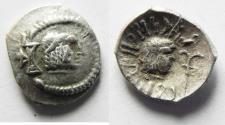 "Ancient Coins - ARABIA, Southern. Himyar. Ṯ""RN Y ̔B. Late 2nd century AD(?). AR Unit ."