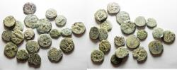 Ancient Coins - JUDAEA. AS FOUND LOT OF 20 BRONZE PRUTOT