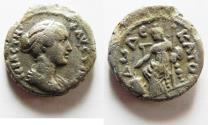 Ancient Coins - EGYPT, Alexandria. Faustina Junior. Augusta, AD 147-175. BI Tetradrachm
