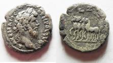 Ancient Coins - EGYPT. ALEXANDRIA. LUCIUS VERUS BILLON TETRADRACHM