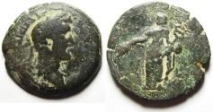 Ancient Coins - Roman Provincial. Egypt. Alexandria under Antoninus Pius (AD 138-161). AE drachm (34mm, 20.91g).