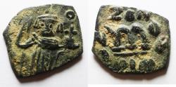 Ancient Coins - ARAB-BYZANTINE AE FALS IMITATING CONSTANS II AE FOLLIS