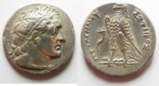 Ancient Coins - Egypt. Ptolemaic kingdom. Ptolemy III Euergetes (246-222 BC). AR tetradrachm (28mm, 13.40g). Alexandria mint. Struck c. 246-242/1 BC.